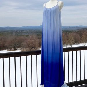 NEW Splendid Strappy Ombre Maxi Dress, M